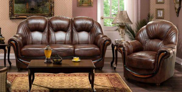 Правильный уход за натуральной мебельной кожей