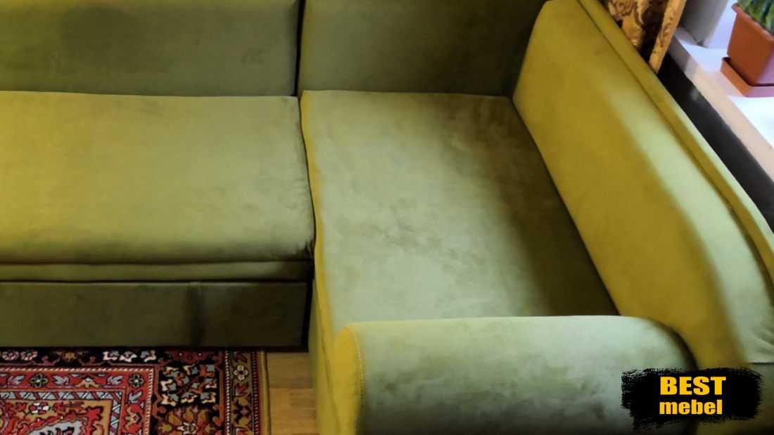 Перетяжка углового дивана в Дербышках