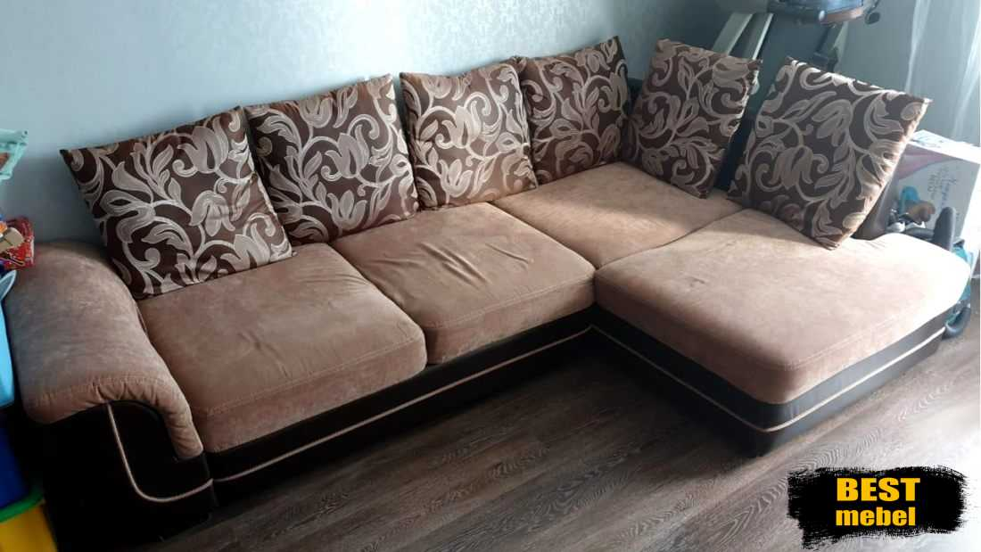 Перетяжка углового дивана - Казань ул. Амирхана