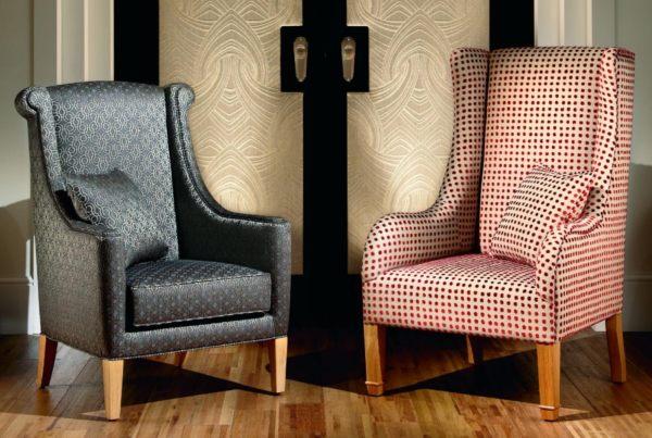 Обивка сиденья и спинки кресла