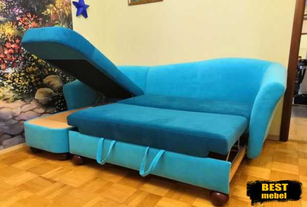 Перетяжка дивана с оттоманкой