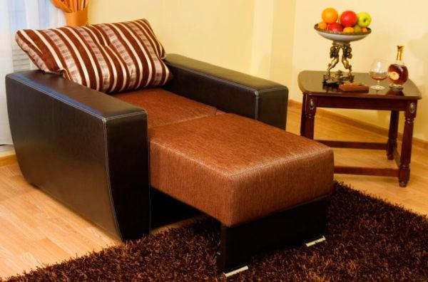 Перетяжка и обивка подлокотников кресла