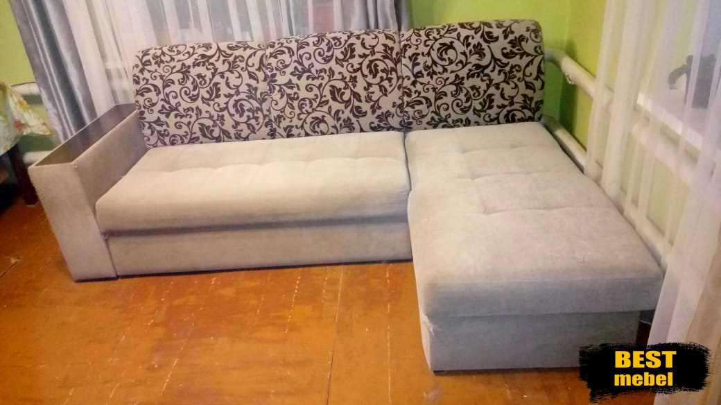Ремонт и перетяжка дивана с оттоманкой п.Мирный
