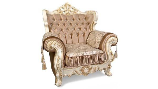 Перетяжка классического кресла