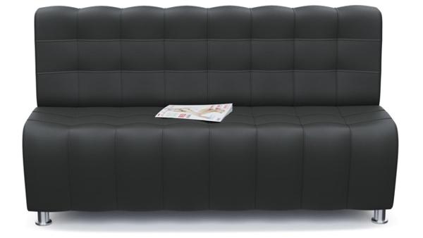 Перетяжка офисного дивана без подлокотников Казань